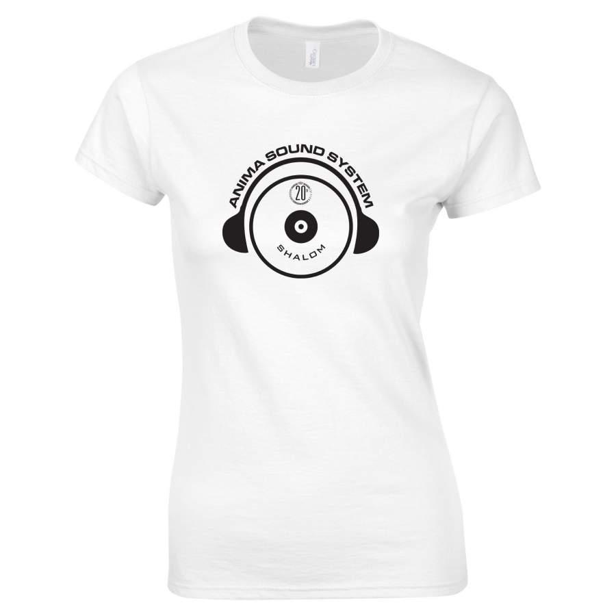 Anima Sound System - Shalom 20th póló női fehér