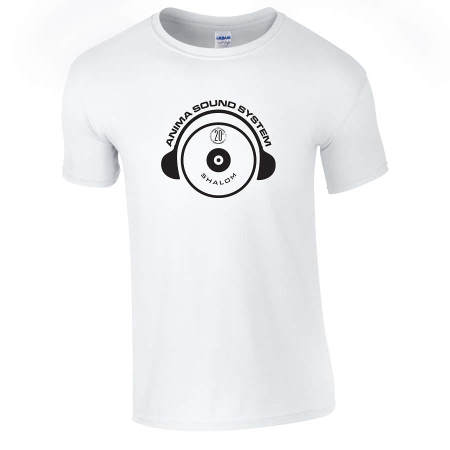 Anima Sound System - Shalom 20th póló férfi fehér