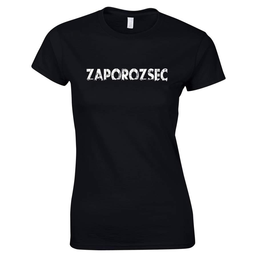Zaporozsec - Zaporozsec póló női fekete