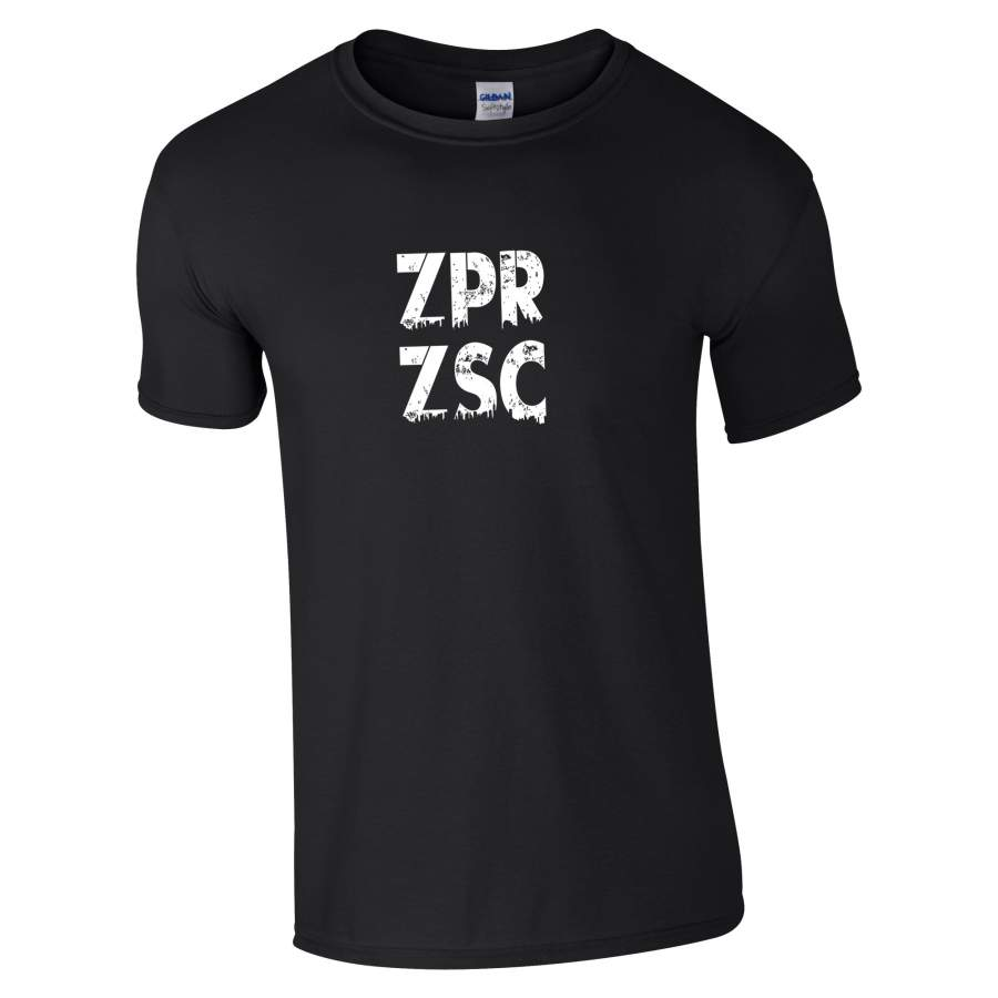 Zaporozsec - ZPRZSC póló férfi fekete