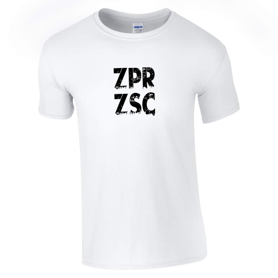 Zaporozsec - ZPRZSC póló férfi fehér