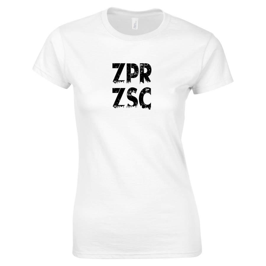 Zaporozsec - ZPRZSC póló női fehér