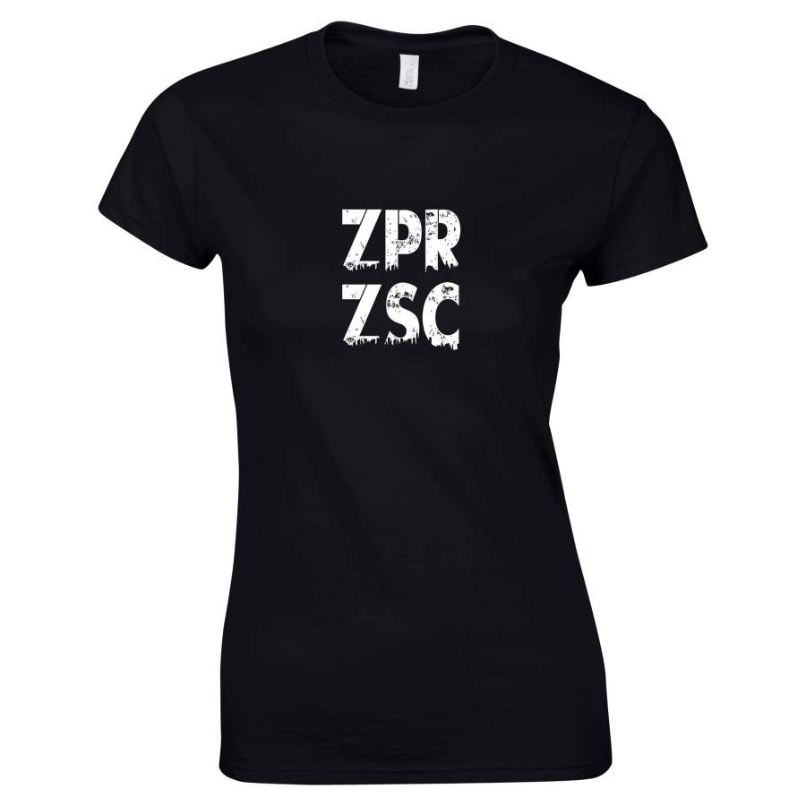 Zaporozsec - ZPRZSC póló női fekete