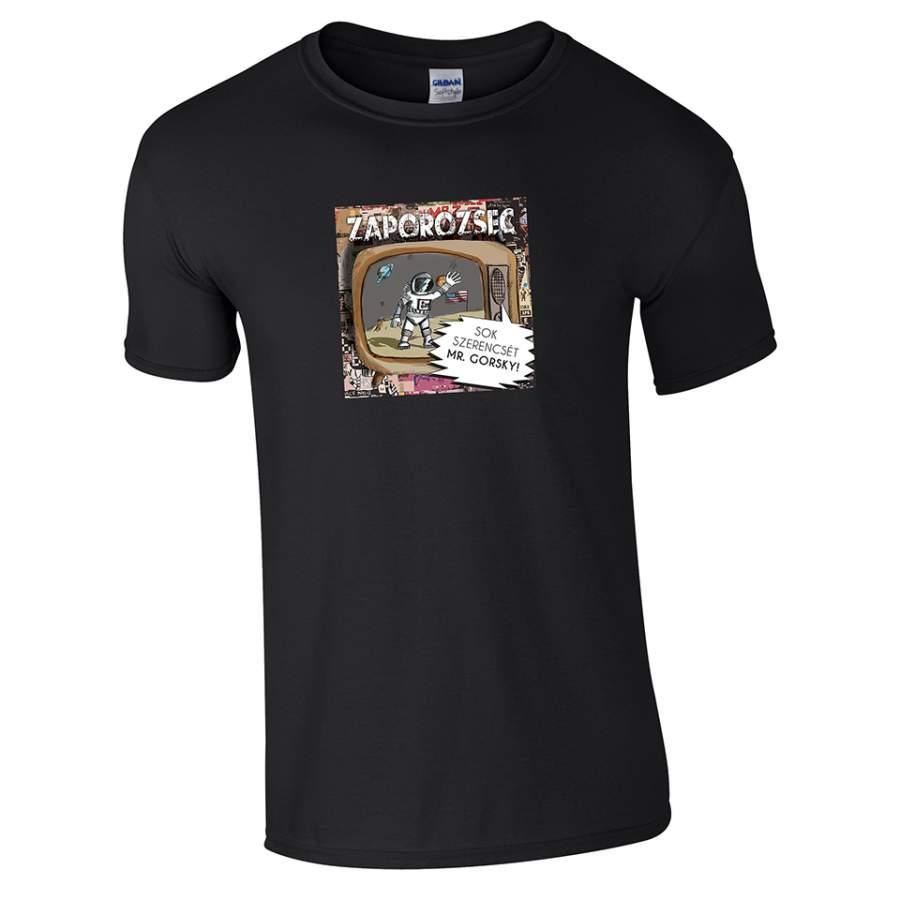 Zaporozsec - Lemezborító póló férfi fekete