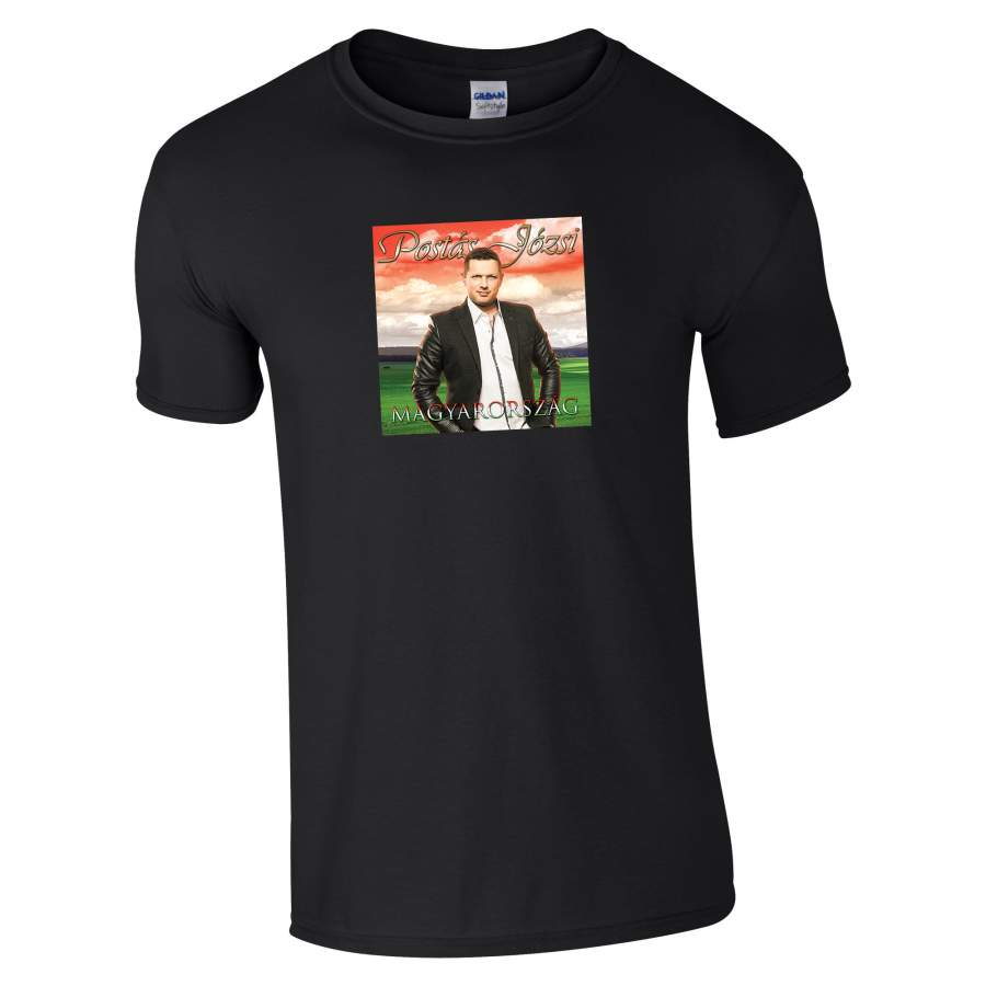 Postás Józsi - Lemezborító póló férfi fekete