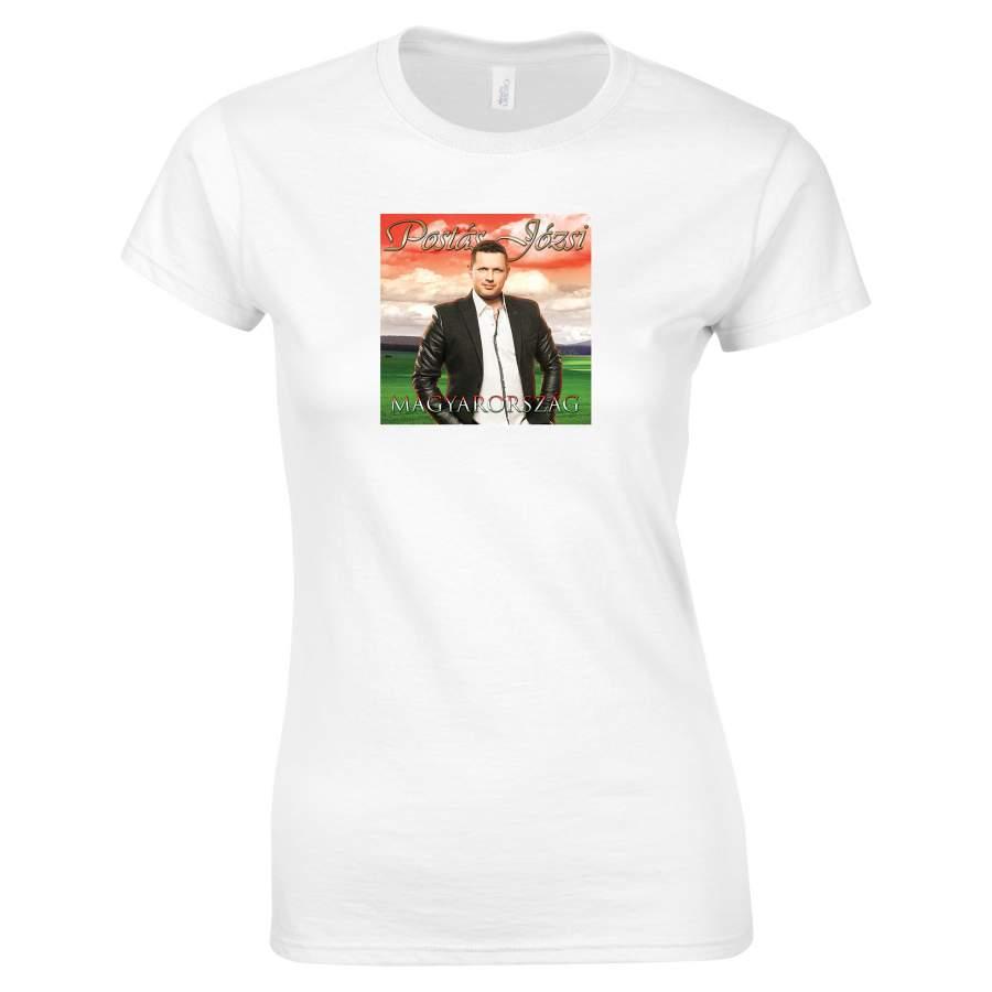 Postás Józsi - Lemezborító póló női fehér