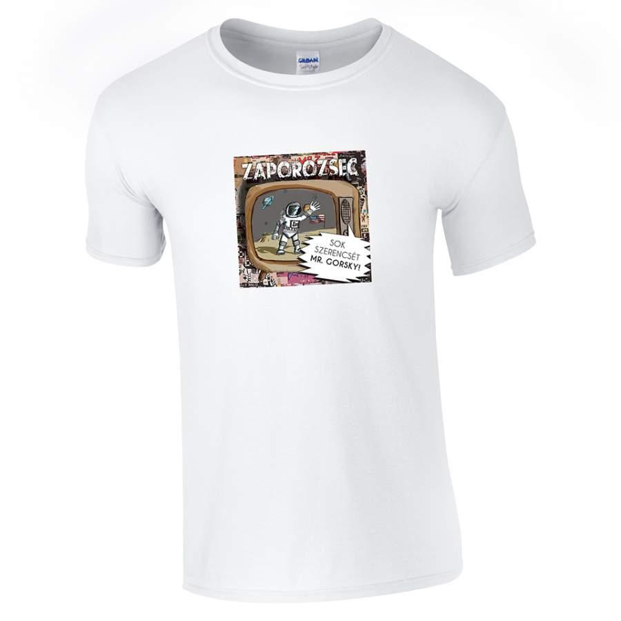 Zaporozsec - Lemezborító póló férfi fehér