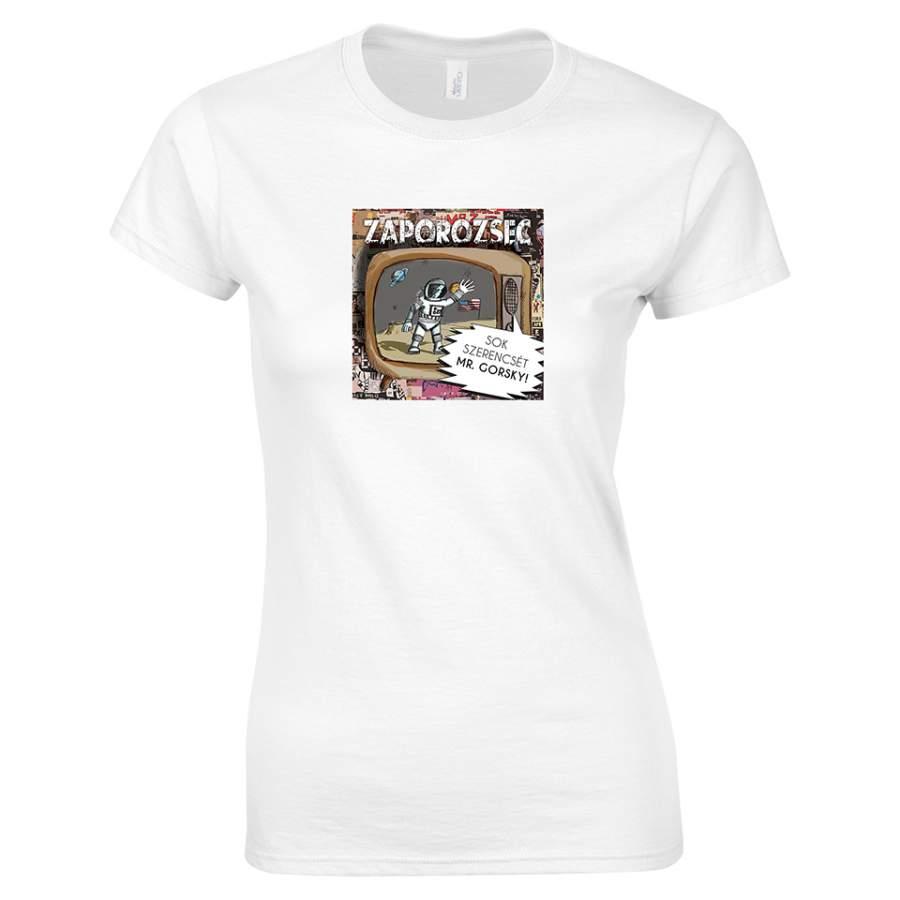 Zaporozsec - Lemezborító póló női fehér